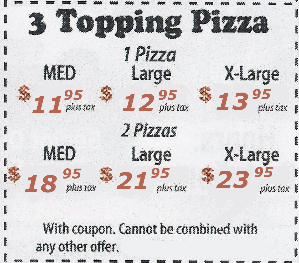 3 Topping Pizza Promotion